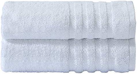 2 x Bath Sheets Linen Zone 100/% Egyptian Cotton Fade Resistant Towel Set 600 GSM White