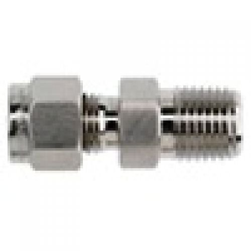 Brennan 3//8 in Instrumentation x 1//2 in Male Pipe 2 Units Stainless Steel Instrumentation Straight Adapter