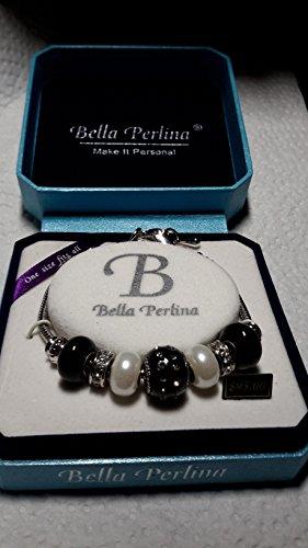 european-charm-crystal-bead-dangle-bracelet-black-white-silver