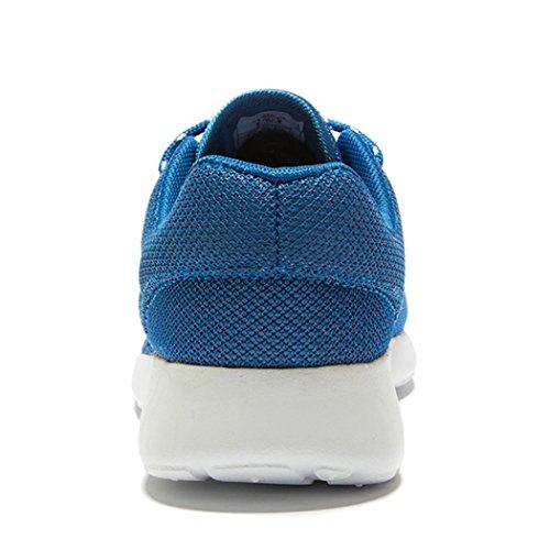 Fengda Mens Löparskor Utomhus Atletiska Fritids Walking Sneakers Blå