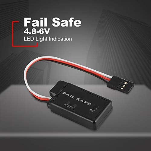Negro Libertroy 4.8-6V Accelerator Fail Safe Traje de protecci/ón para Todos los repuestos a Prueba de Fallos con Buggy y camioneta de Auto RC con indicador LED Servo Receptor