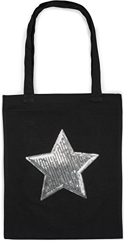 Dark Bag bag star shopping color 02012214 canvas with sequin Black styleBREAKER applique Blue unisex tote bag bag fabric c0ZwH4FPq