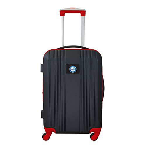 Denco NBA Philadelphia 76ers Round-Tripper Two-Tone Hardcase Luggage Spinner from Denco
