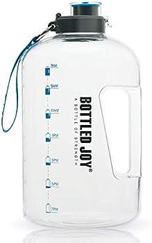 Bottled Joy 1 Gallon BPA Free Large Water Bottle Hydration