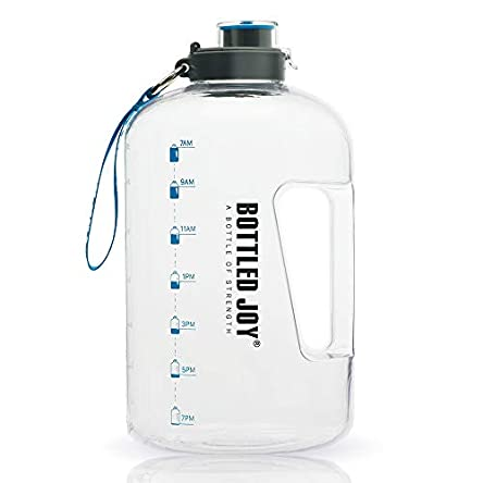 BOTTLED JOY 1 Gallon Water Bottle, BPA Free Large Water...