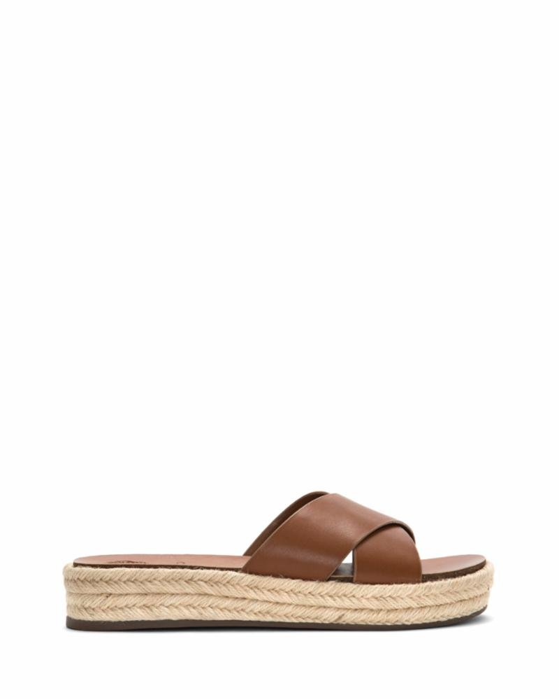 Vince Camuto Women's Carran Slide Sandal, Summer Cognac, 9 Medium US