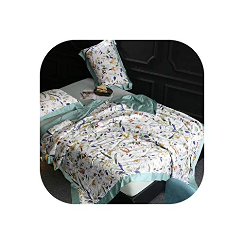 (3Pcs Summer Tencel Silk Quilt Blanket Bed Spread Bed Cover Set Mattress Cover Bed Sheet Set Pillowcase Couvre Lit,Bedspread 8,220X240Cm 3Pcs)