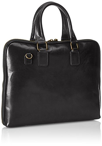 100 de véritable serviette femmes Noir travail de de sac Nero Italie 38x28x7cm CTM cuir Fabriqué en 8x4vH5