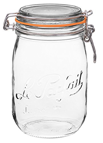 Le Parfait French Glass Super Jar with 85 mm gasket, 1 Liter