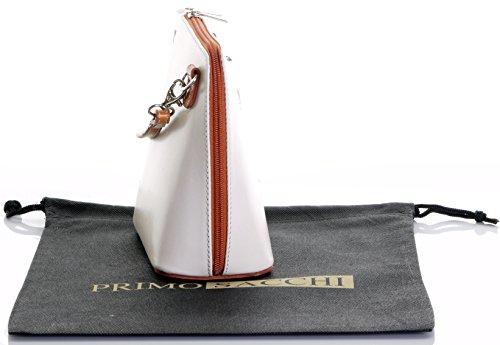 In protettiva italiana o Tan a borsa marca corpo nbsp;Include pelle una di amp; tracolla Micro borsa Crema borsetta croce custodia Small FFZfr1R0