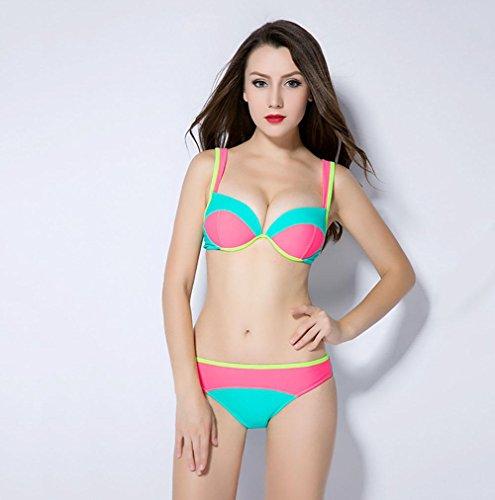 SHISHANG Traje de baño de las señoras del verano Traje de baño europeo y americano del bikiní las mujeres atractivas de la manera dividen el traje de baño del color multi-color opcional picture one