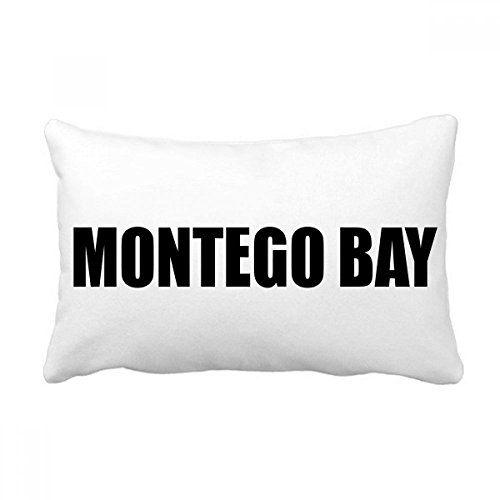- DIYthinker Montego Bay Jamaica City Name Throw Lumbar Pillow Insert Cushion Cover Home Sofa Decor Gift