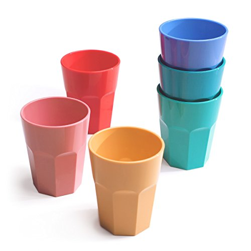 Cupture The Small Cup - Plastic Tumblers, 12 oz, 6-Pack (Assorted Colors)