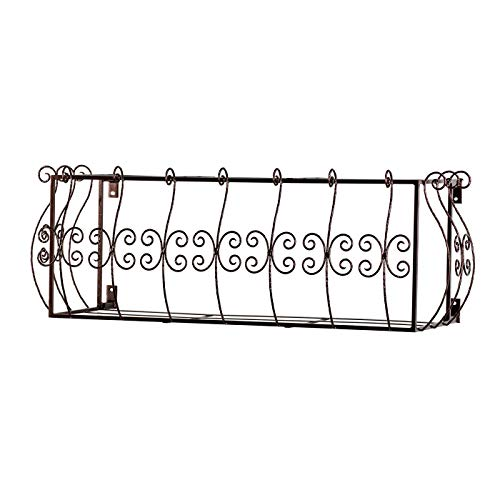 Windowbox SAN Marino Iron AIR Conditioning Cover/Window Guard 48IN. L X 18IN. H W/ 15IN. Offset, Color: Textured Bronze