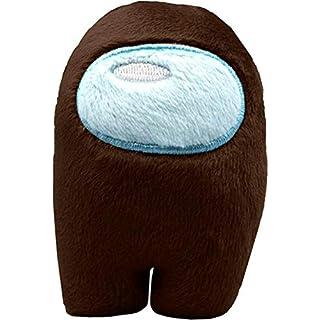 Soft Plush Among Us Plush Among Us Game Plush Toy with Music Kawaii Stuffed Doll Cute Red Small Among Us Plushie (1pc, Brown)