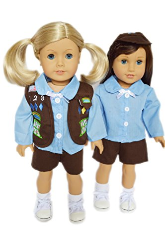 Brittany's My Girl Scout Brownie Shorts Outfit Compatible with American Girl Dolls