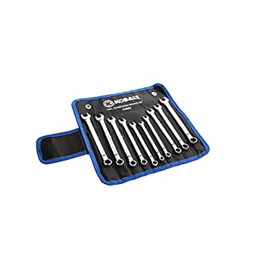 Kobalt 10-Piece Small Standard and Metric Combination Wrench Set with Roll-up Pouch
