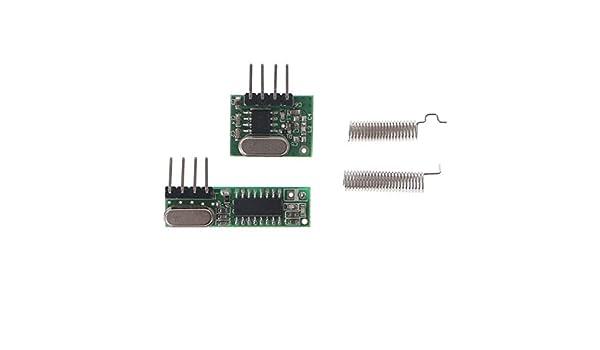 STX882 ASK Transmitter Module+SRX882 Superheterodyne Receiver Module /&Antenna
