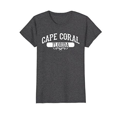 Womens Cape Coral Florida T Shirt Large Dark Heather