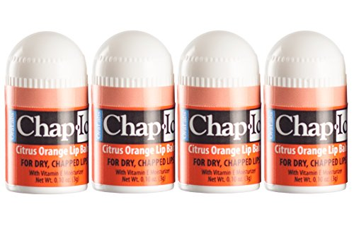 Lot of 4 Oralabs Chap Ice Citrus Orange Lip Balm Mini Cute Bonus Pack ()