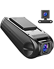 【Updated Version】APEMAN Car Camera Dash Cam GPS Dual Lens Full HD 1080P 170° Wide Angle Lens With G-sensor, WDR, Loop Recording, Motion Detection,Parking Monitoring