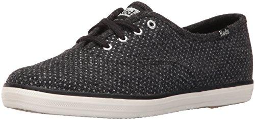 Keds Women's Champion Glitter Wool Fashion Sneaker - Blac...