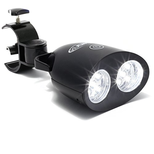 #1 Barbecue Grill Light Bright Eyes with 10 Super Bright LED Lights - Durable, Weather Resistant, Powerful LED BBQ Light for Any Gas/Charcoal/Electric Grill (Black)