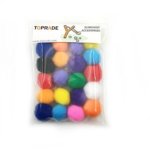 TOPRADE Multiple Color Felt Ball/Fuzzy ball Slingshot Ammo Safe for Children (Ammo Heavy Shot)