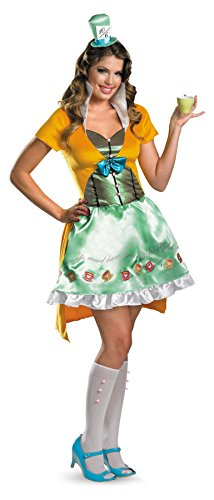 UHC Women's Disney Mad Hatter Sassy Alice In Wonderland Halloween Costume, S (4-6) - Alice In Wonderland Cheap Costumes