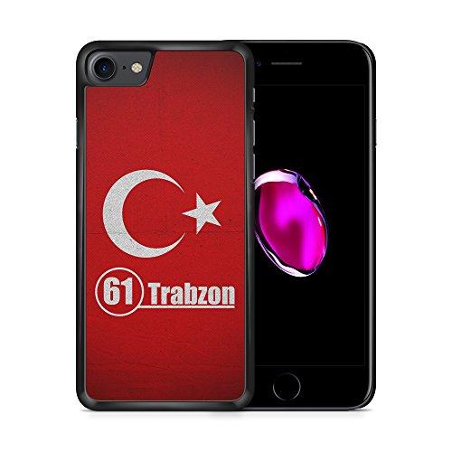 Trabzon 61 Türkiye Türkei iPhone 7 SCHWARZ Hardcase Hülle Cover Case Schale Tasche Turkey Bayrak