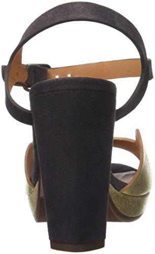 Chie Mihara Chispa, Sandalias con Plataforma para Mujer Or (ante metal gold jean carbon)