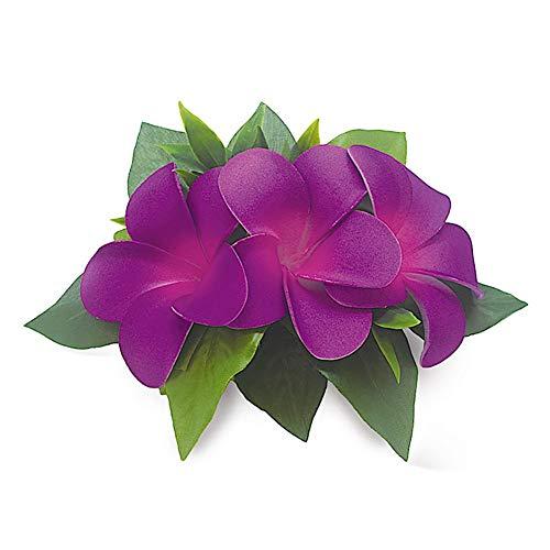 Hawaii Hair Clip Foam Flower Cluster Plumeria Purple ()