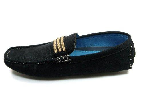 Shoes Light Weight Bravo Moc Men's Driving Casual 1 Black Coronado X8Tgwqq
