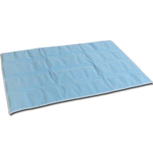 西川 国産 洗える ひんやり アイス ジェル パッド プチシングル 90×60cm ブルー 裏 メッシュ B007VA65H4