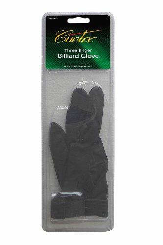 Cuetec Professional 3-Finger Bridge Hand Billiard/Pool Glove, One Size Fits Most, Pack (Cuetec Billiard Glove)