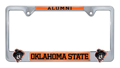 Frame University License Plate (Elektroplate Oklahoma State University License Plate Frame Variation (3D Alum))