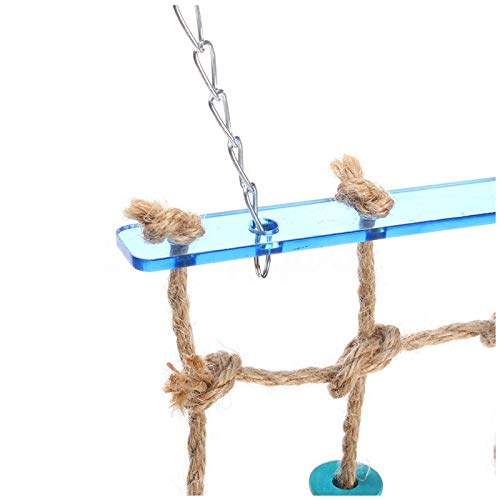 Bathroom Hardware Bathroom Fixtures New Parrot Birds Climbing Net Jungle Rope Animals Toy Swing Ladder Chew