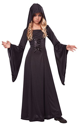 [POPLife Gothic Vampire Deluxe Hooded Robe Girl Costume] (Womens Deluxe Hooded Robe Costumes)