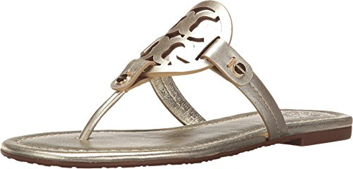 - Tory Burch Miller Metallic Leather Sandal, Spark Gold (6.5)