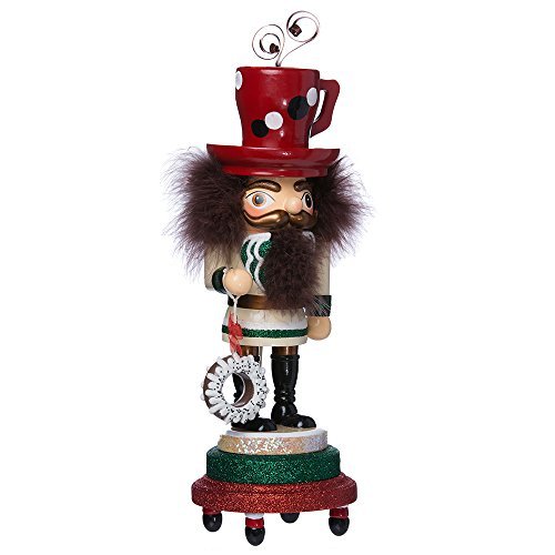 Kurt Adler HA0318 16'' Hollywood Coffee Mug Hat Nutcracker by Kurt Adler