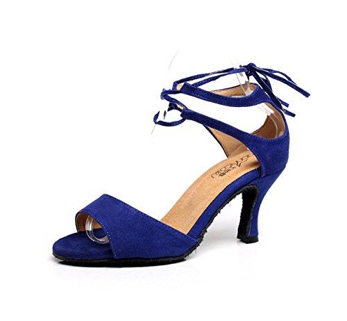 Colori Satin Professionista Ragazza Superiore blue Dance altri Delle Ballroom Shoe Latino Salsa Med 41 Donne Scarpe Della Sandali ZnqxfYUpp