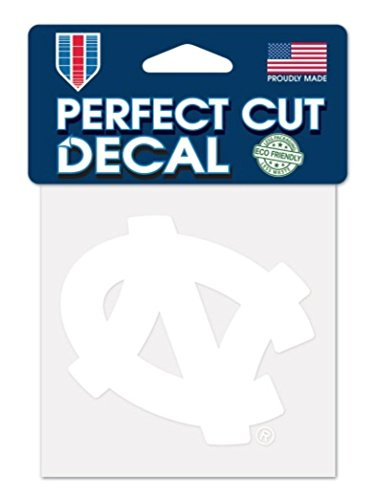 WinCraft NCAA North Carolina Tar Heels 4x4 Perfect Cut White Decal, One Size, Team Color