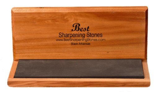 Arkansas Sharpening Stone - Black Surgical 8''x3''