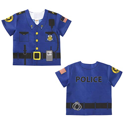 Aeromax, Inc. My 1st Career Gear Toddler Police Top, 18-36 Months (International Costumes Inc)