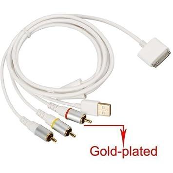 jomoq Video Compuesto AV para TV RCA Cable Cargador USB para ...