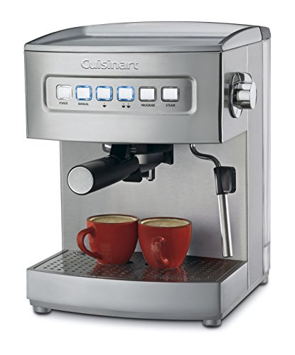 (Cuisinart EM-200 Programmable 15-Bar Espresso Maker, Stainless Steel)