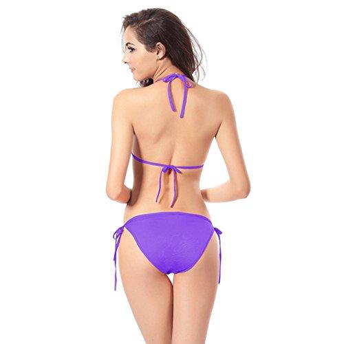 Swimwear Bikini Push Costume Up Reggiseno Sexy Bagno Imbottito UomoGo Viola Balneare Da wUaaAq0