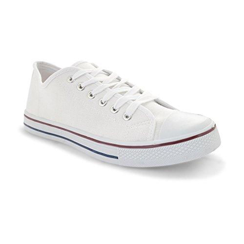 Footwear Sensation - Zapatos de cordones para mujer negro negro negro - blanco