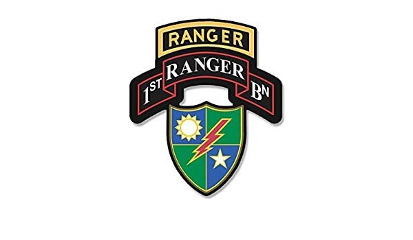 173 armyl 1st Ranger BN Seal with RANGER Tab Above Shaped Sticker
