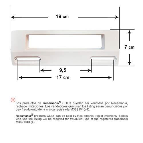 馃 Tirador puerta Frigorifico BLANCO Distancia entre agujeros m铆nimo 9.5 cm. M盲ximo 17 cm